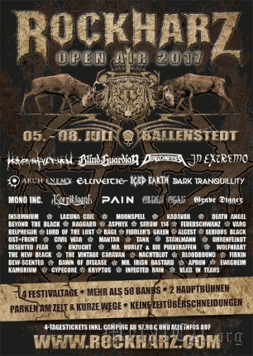 2017.07.05 Фестиваль Rock Harz Open Air - Ballenstedt (Германия)